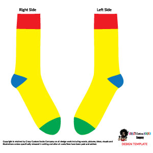 Crazy Sock Design Template