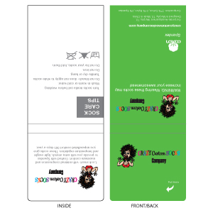 Crazy Sock Tag Template